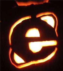 internet explorer browser pumpkin