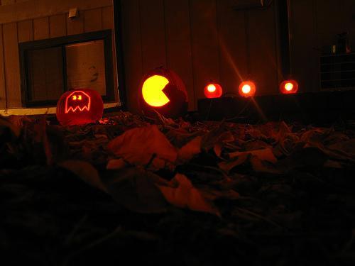 pacman characters pumpkin