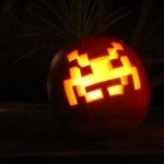 space invaders pumpkin carving