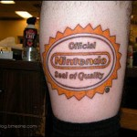 cool nintendo tattoo logo
