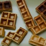 cool tetris design of waffles