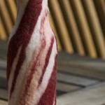 funny bacon bottle sleeve image