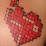 heart shaped tetris tattoo