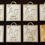 periodic table elements pendants