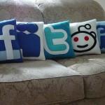 social media pillows design