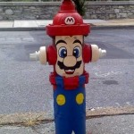 super mario brothers fire hydrant art