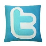 twitter logo pillow design