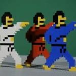 8 bit video game lego trip