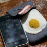bacon and eggs breakfast iphone sleeve design
