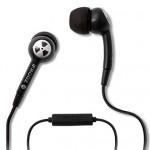 black iphone 3gs earphones and mic