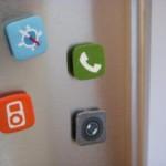 cool iphone icons fridge magnets