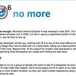 internet explorer 6 is dead