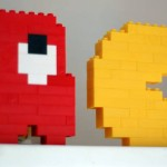 pacman video game lego art