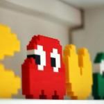 pacman video game art lego