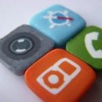 new iphone icons fridge magnet