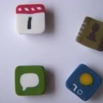 new iphone icons fridge magnets