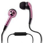 pink iphone 3gs earphones and mic