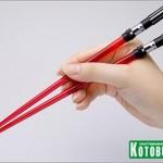 red star wars lightsaber chopsticks design