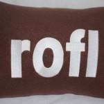 rofl text talk bed pillows