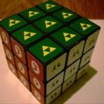 cool legend of zelda rubiks cube game