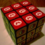 rubik cube super mario brothers logo