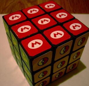 rubik cube super mario brothers logo walyou