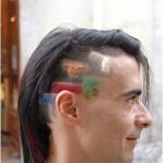 tetris bricks hair cut design