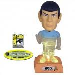 transporting star trek spock bobble head toy