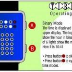 tibida tokyoflash watch binary mode