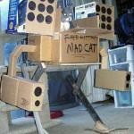 cardboard mecha cats