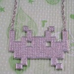 cool space invaders game necklaces design
