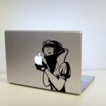 cool snow white art macbook decal