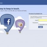 facebook light home page