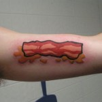 funny bacon tattoos