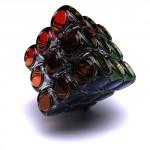 glass rubiks cube design