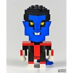 cool nightcrawler superhero lego art