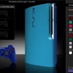 ps3 slim mod blue color