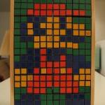 cool rubiks cube super mario bros mosaic