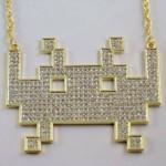 space invader necklace design