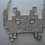 bling bling space invaders necklaces
