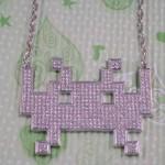 space invader blingvader necklace