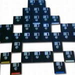 Space Invaders Art From Recycled Floppy Disks Is A Total Recall1