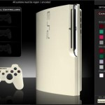 white ps3 slim mod colorware