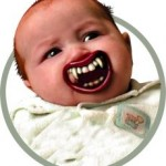 baby vampire teeth pacifier accessory