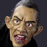 barack obama zombie halloween mask