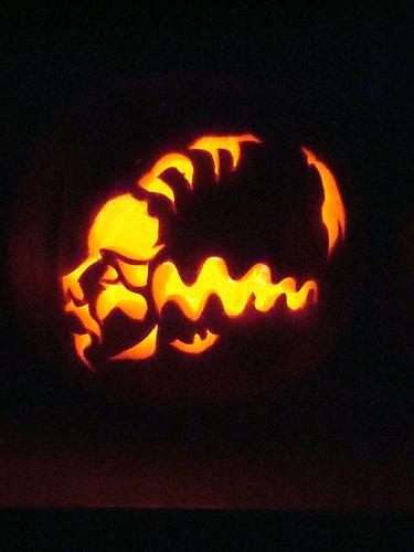 bride of frankenstein pumpkin face