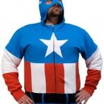 captain america halloween mask hoodie