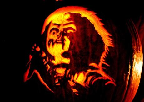 chucky pumpkin face