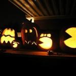 cool pacman pumpkin face