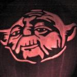 cool yoda pumpkin face